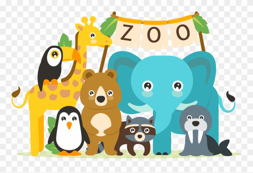 Zoo clipart transparent svg The Best Cute Clipart Images From 50 Cliparts Of - Animals ... svg