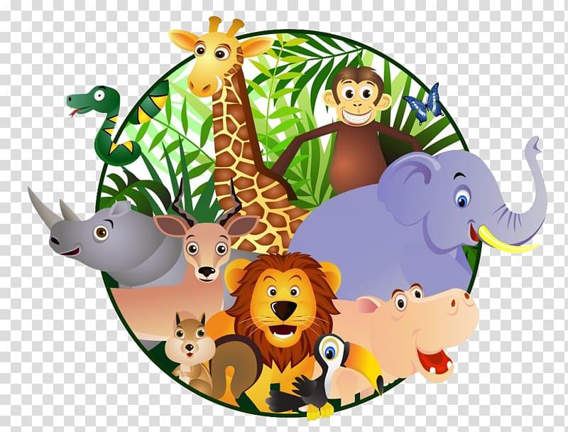 Zoo clipart transparent clip freeuse library Zoo animals , Cartoon Safari , orangutan transparent ... clip freeuse library