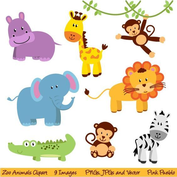 Zoo directions clipart clipart library stock Free Printable Jungle Animals | Zoo and Jungle Animals ... clipart library stock