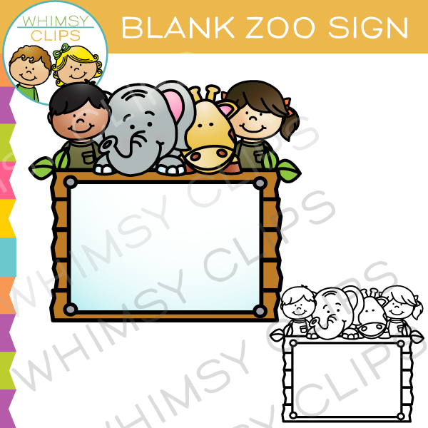 Zoo gift shop sign clipart svg transparent library Zoo sign clip art , Images & Illustrations   Whimsy Clips ® svg transparent library