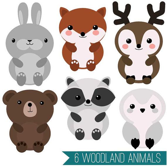 Vector clipart set animals image royalty free library Cute Animal Clipart Set: Mega-pack of 20 cute animal vector ... image royalty free library