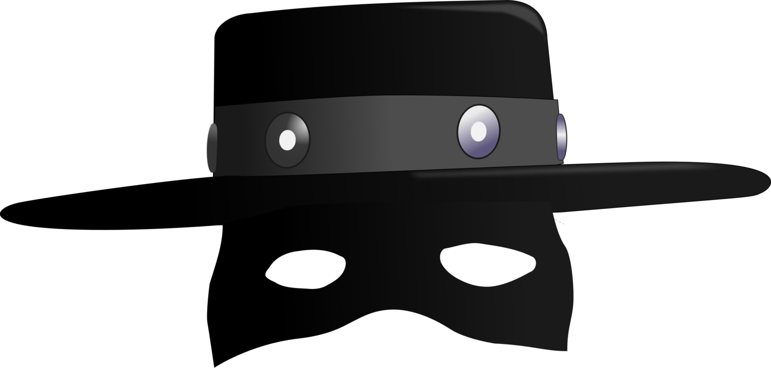 Zorro clipart banner freeuse download Headgear,Zorro,Hat Vector Clipart - Free to modify, share ... banner freeuse download