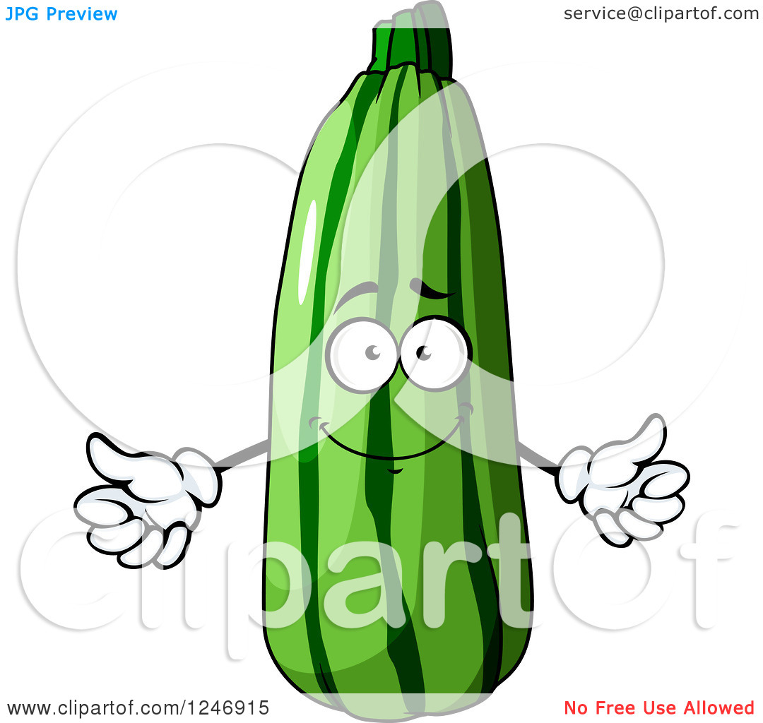 Zucchini character clipart free library Clipart of a Zucchini Character - Royalty Free Vector Illustration ... free library