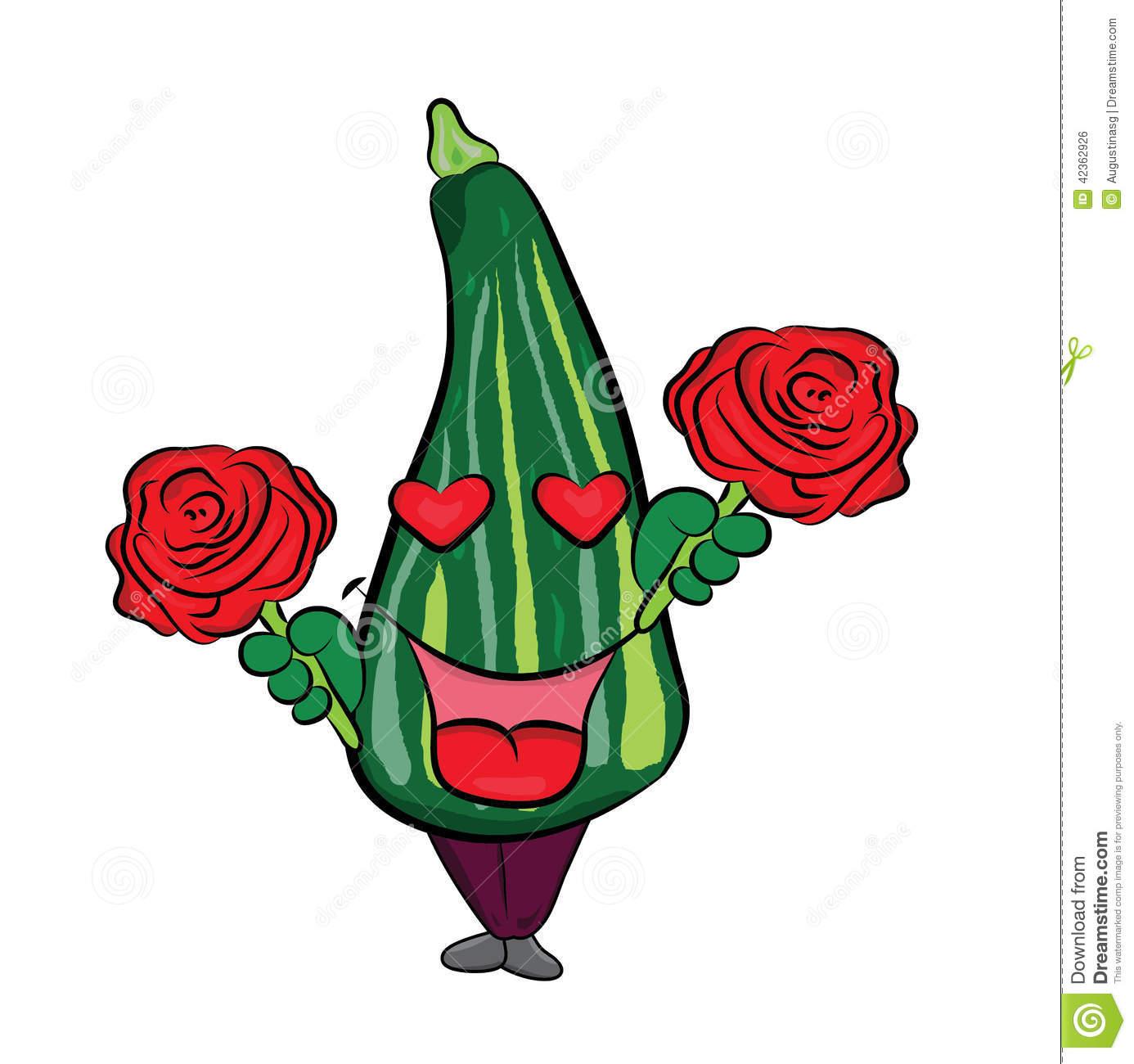 Zucchini character clipart clipart black and white stock Cartoon Happy Zucchini Character Royalty Free Stock Photos - Image ... clipart black and white stock