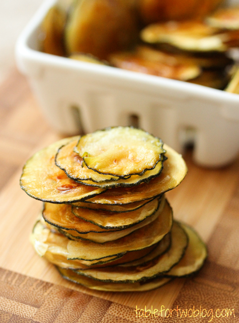Zucchini chips picture black and white download Easy Oven-Baked Zucchini Chips - Table for Two picture black and white download