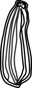 Zucchini clipart black and white png black and white stock Zucchini Clip Art at Clker.com - vector clip art online, royalty ... png black and white stock