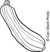 Zucchini clipart black and white image freeuse Zucchini Vector Clipart Royalty Free. 1,261 Zucchini clip art ... image freeuse