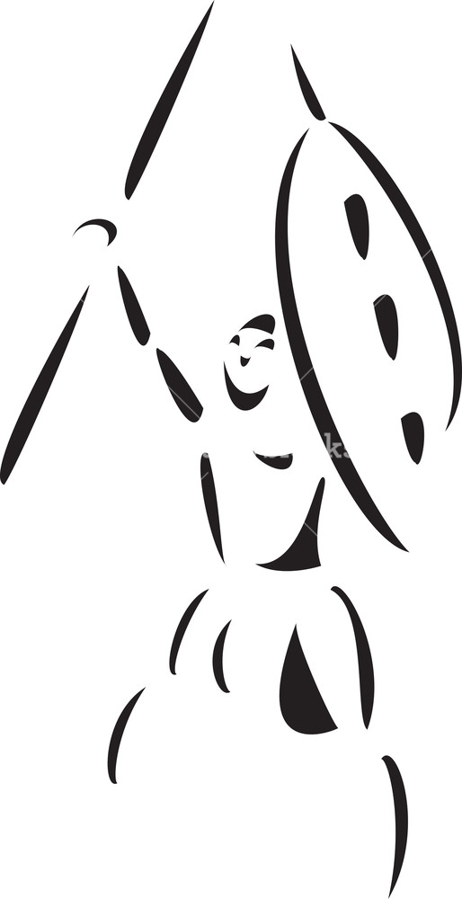 Zulu shield clipart picture freeuse Illustration Of A Zulu Man Fighting With Shield And Spear ... picture freeuse
