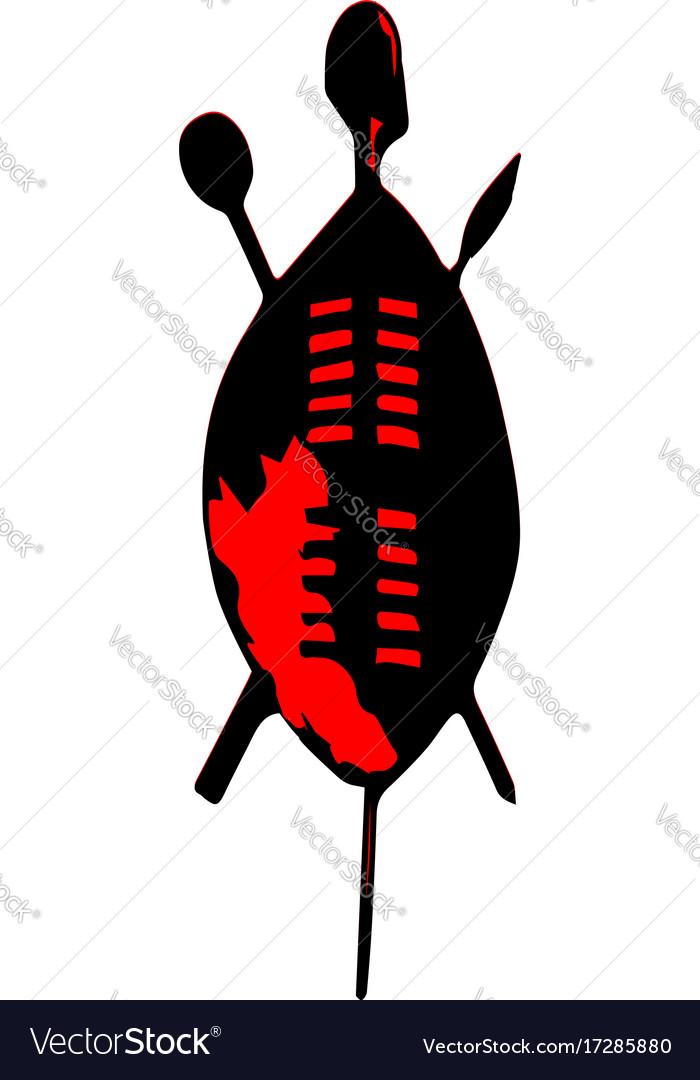 Zulu shield clipart vector Zulu shield vector