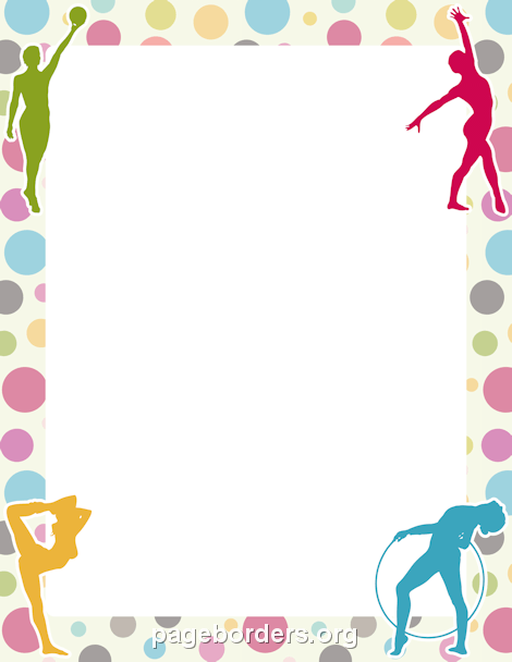 Zumba picture frame clipart png stock Gymnastics Border   Teens   Gymnastics birthday, Gymnastics ... png stock