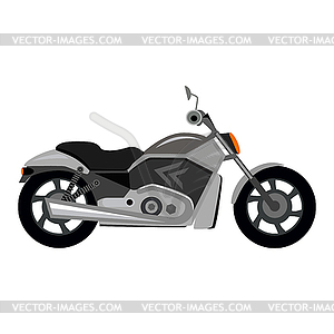 Cool Motorcycle - vector clip art image black and white stock